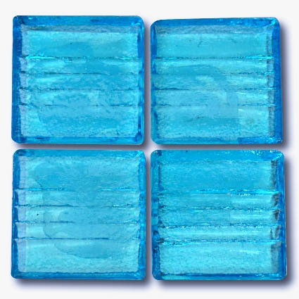 570 Transparent Aqua 20mm glass mosaic tile