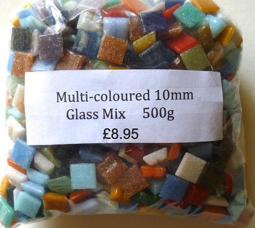 10mm mixed mosaic glass tiles