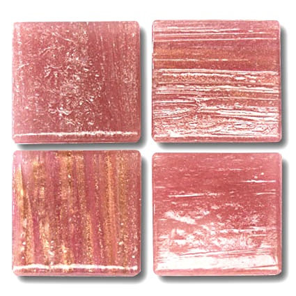 601 Gold vein muddy pink 20mm glass mosaic tile