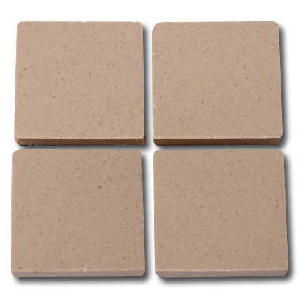 652 Bisque 24mm - a sheet of 49 ceramic tiles