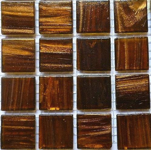 Special; 'Tiger' brown gold vein mosaic. Large sheet.