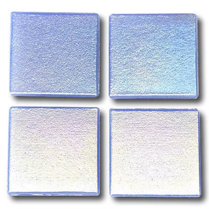 580 Iridescent pale blue 20mm glass mosaic tile