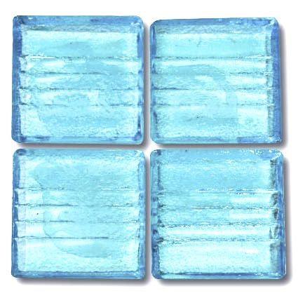 571 Pale Transparent Aqua 20mm glass mosaic tile
