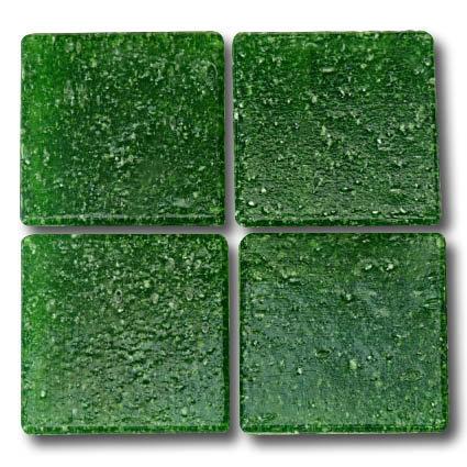 543 Dark green glass mosaic tile
