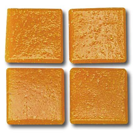521 Speckled orange 20mm glass mosaic tile