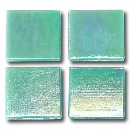 584 Iridescent sea green 20mm glass mosaic tile