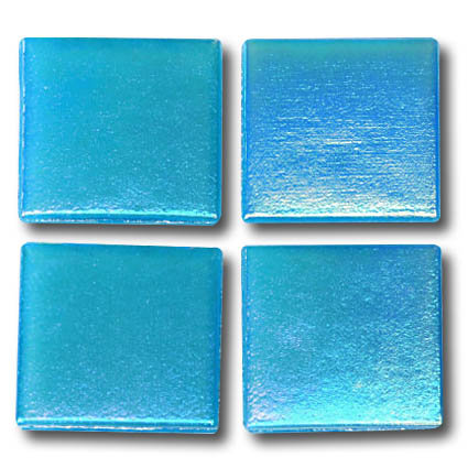 583 Iridescent ocean blue 20mm glass mosaic tile