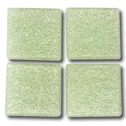 535 Hint of green 20mm glass mosaic tile