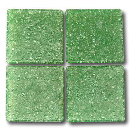 541 Mid green 20mm glass mosaic tile