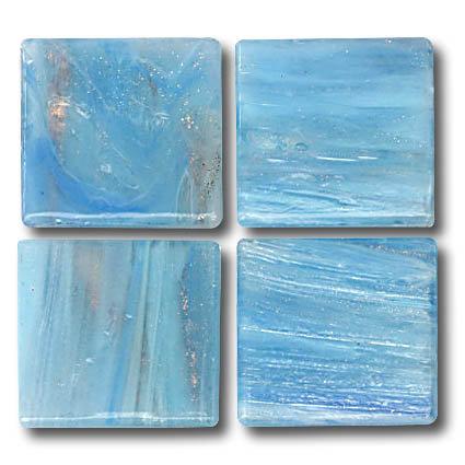 592 Gold vein pale blue 20mm glass mosaic tile