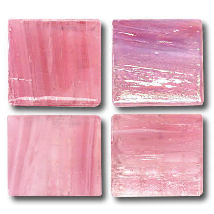600 Gold vein pink 20mm glass mosaic tile