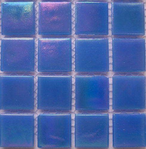 Special; Mid blue iridescent. Large sheet