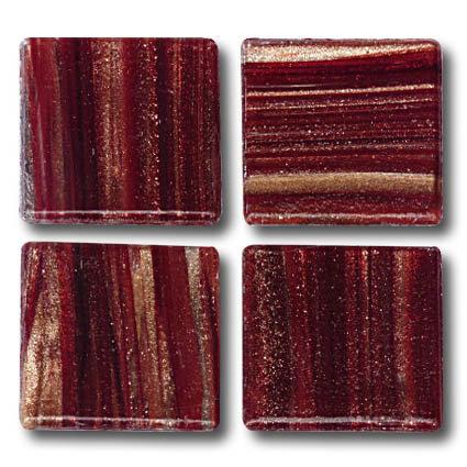 608 Gold vein mahogany 20mm glass mosaic tile