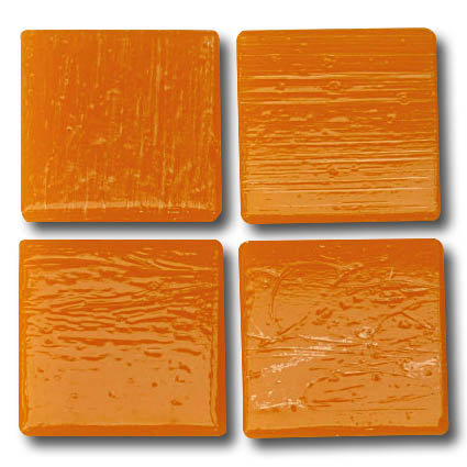 522 Orange 20mm glass mosaic tile