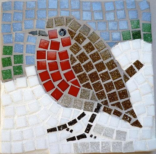 Christmas Robin mosaic kit