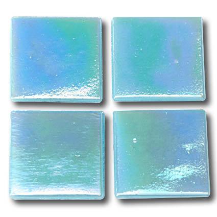 582 Iridescent sky blue 20mm glass mosaic tile