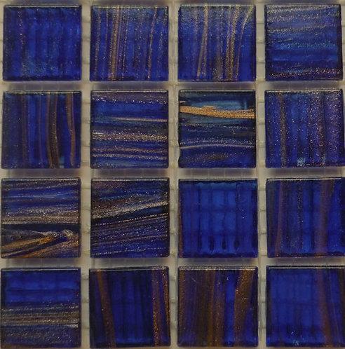 Special; Royal blue gold vein mosaics. Large sheet