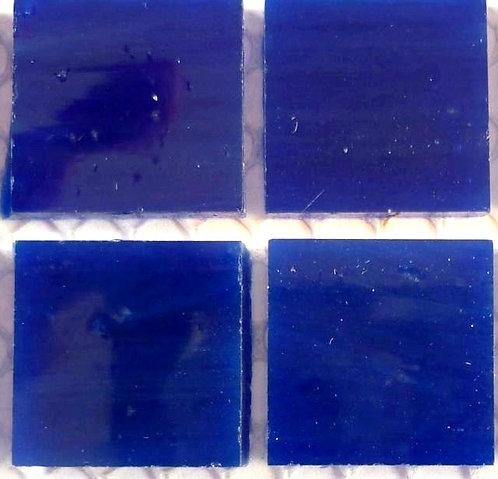Lustrous Navy Blue 20mm glass tile
