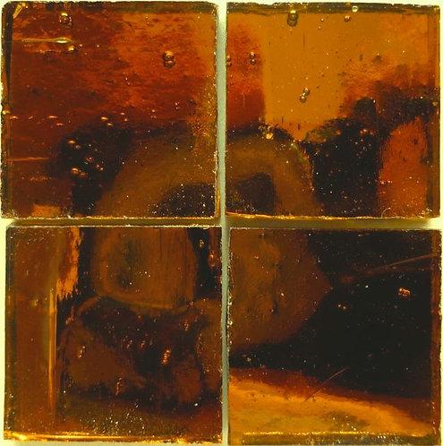 Bronze Wavy mirror 20mm glass tile