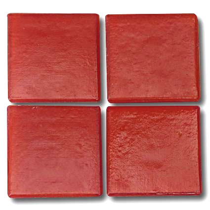 525 Poppy red 20mm glass mosaic tile
