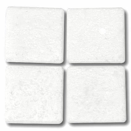 501 Solid white 20mm glass tile