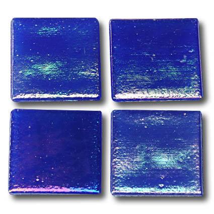 581 Iridescent blue 20mm glass mosaic tile