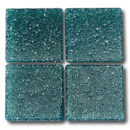 547 Deep Sea Green 20mm glass mosaic tile