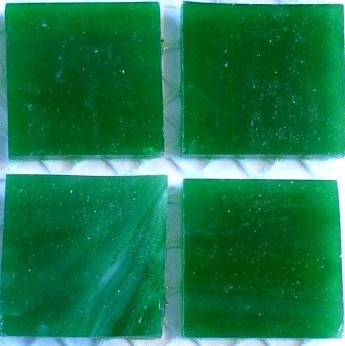 Lustrous Jungle Green 20mm glass tile