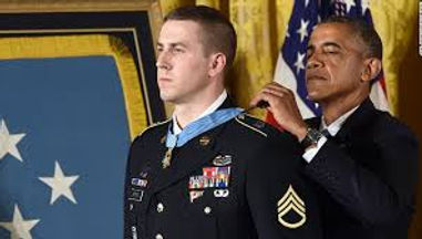 President Obama awarding the Medal of Honor to a service man