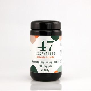47 Essentials Vitamin C forte (180 Kapseln)