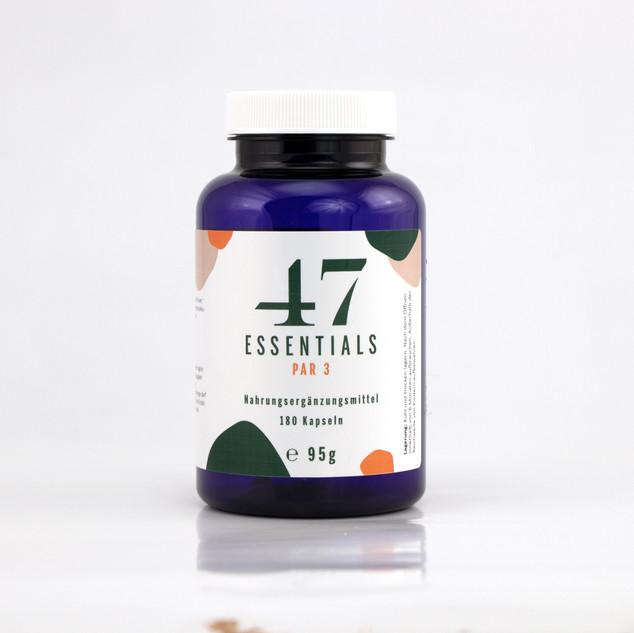 47 Essentials PAR 3 (Gewürznelken-Extrakt Kapseln): 180 Kapseln