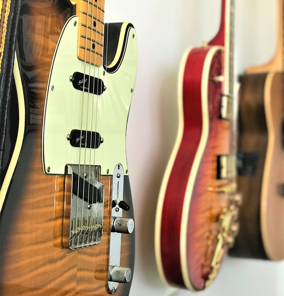Japanese Fender Tele -  my beloved Frankenstein with EMG pickups creating amazing cut-through.