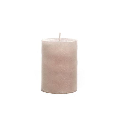 Bougie cylindrique sable / beige longue durée 48h