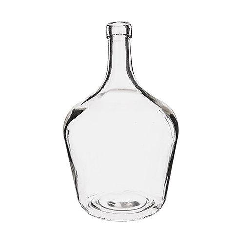 Dame jeanne en verre transparent hauteur 25 cm