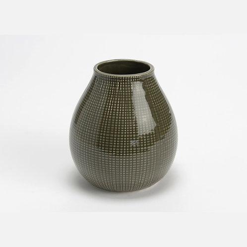 Vase rond en céramique gris vert petit modèle