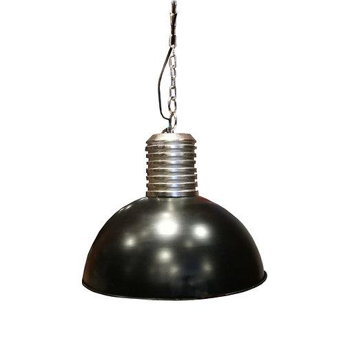 Suspension industrielle en métal noir & argent