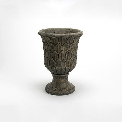 Grand vase en ciment or et noir