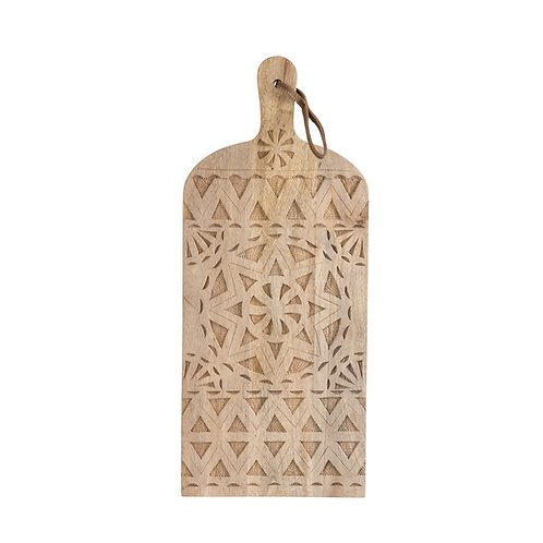 Planche rectangulaire à découper ou à présenter en bois motifs