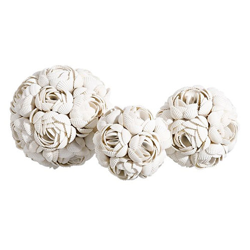 Boule de coquillages de Bali rose taille S