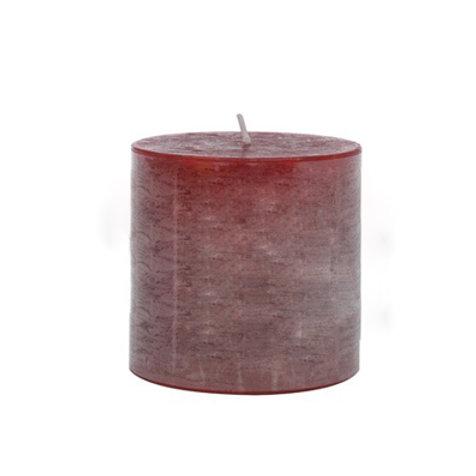 Bougie cylindrique rouge cerise longue durée 80h