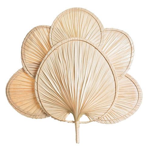 Éventail paï paï feuille de palmier en bambou taille XXL