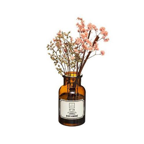 Diffuseur de parfum pot apothicaire fleurs séchées senteur Bois ambré