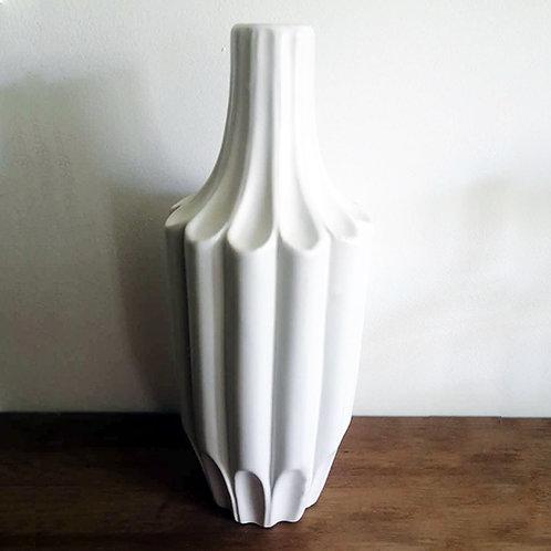 Vase soliflore haut en céramique blanc mat