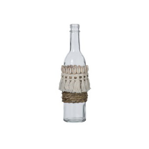 Bouteille coquillage et jute