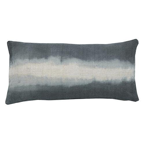 Coussin 100% lin Tie & Dye indigo 30x60 cm