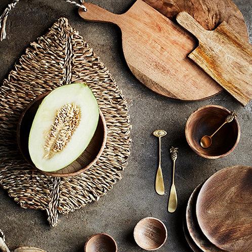 Set de table déco feuille en fibres naturelles