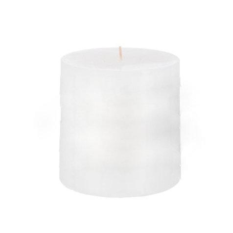 Bougie cylindrique blanche longue durée 80h