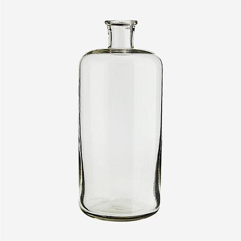 Grand vase soliflore bouteille en verre transparent