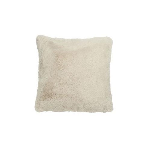 Coussin doux beige 45x45 cm