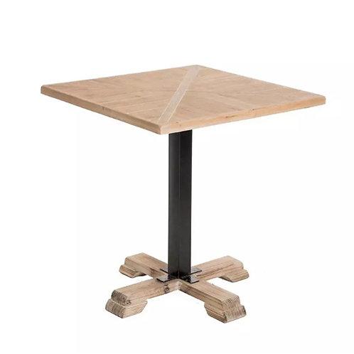 Table à manger carrée en bois naturel
